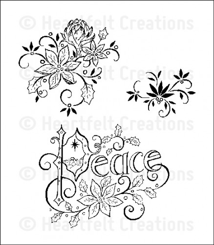 HCPC 3553 ~ PEACEFUL NIGHT ~ Heartfelt Creations pre-cut stamps