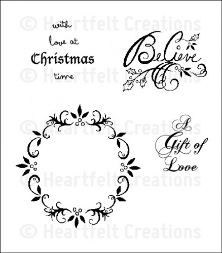 HCPC 3554 ~ LOVE AT CHRISTMAS ~ Heartfelt Creations pre-cut stamps