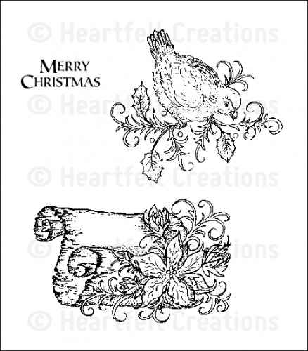 HCPC 3556 ~ CHRISTMAS SONG ~ Heartfelt Creations pre-cut stamps