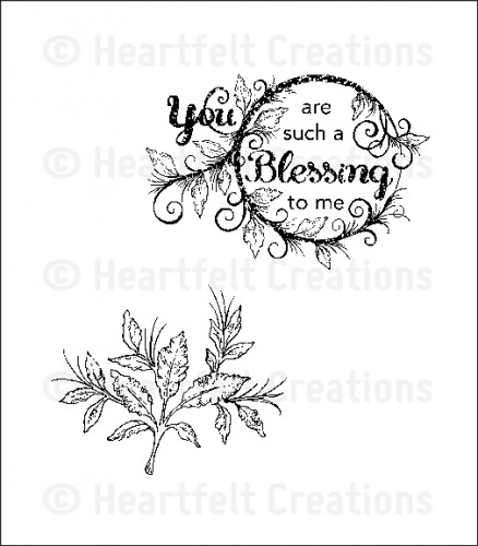 HCPC 3564 ~ Blessing to Me ~ PreCut Set ~ Sweet Juliet Collection ~  Heartfelt Creations stamps