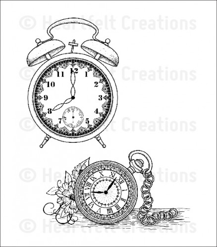 HCPC 3591 ~ ALARM and WATCH PreCut Set ~ Once Upon a Time Collection ~  Heartfelt Creations