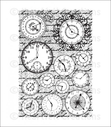 HCPC 3592 ~ TIMELESS CLOCK PreCut Set ~ Once Upon a Time Collection ~  Heartfelt Creations