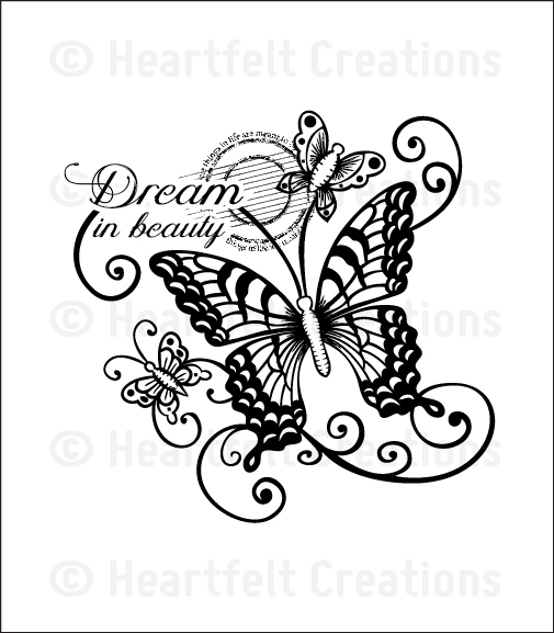ab49ec405ba90 HCPC 3655 DREAM IN BEAUTY PreCut Set Butterfly Medley Collection Heartfelt  Creations