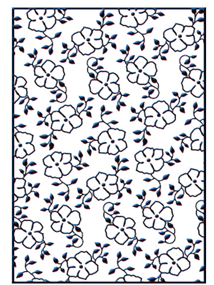 HSF007 ~ SMALL FLOWERS 1 ~ NELLIE SNELLEN EMBOSSING FOLDER