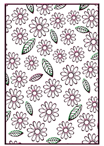 HSF008 ~ FLOWERS AND LEAVES ~ NELLIE SNELLEN EMBOSSING FOLDER