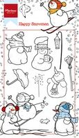 HT1609 ~ HAPPY SNOWMEN ~  Marianne Designs Clear stamp