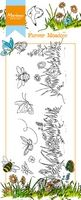 HT1613 ~ Hetty's Border Flower Meadow ~  Marianne Designs Clear stamp