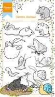 HT1614 ~ Hetty's Garden Animals ~  Marianne Designs Clear stamp