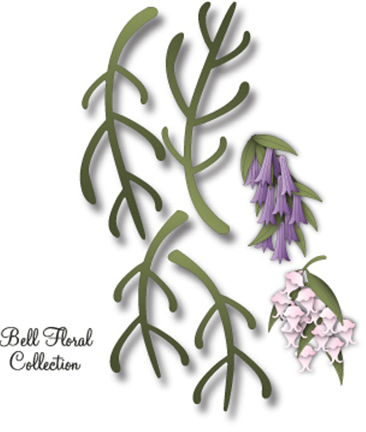 IME-069 ~ BELL FLORAL STEM 1 ~ Dee's Distinctively Dies