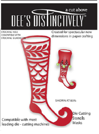 IME014 ~ STOCKING OVERLAY 3 ~ Dee's Distinctively Dies