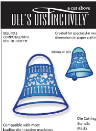 IME017 ~ BELL OVERLAY 2 ~ Dee's Distinctively Dies