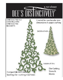 IME022 ~ CHRISTMAS TREE OVERLAY 1~ Dee's Distinctively Dies