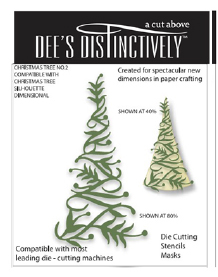 IME023 ~ CHRISTMAS TREE OVERLAY 2 ~ Dee's Distinctively Dies