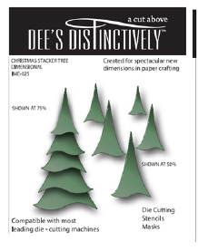 IME025~ CHRISTMAS TREE STACKER ~ Dee's Distinctively Dies