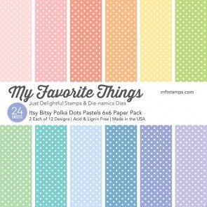Itsy Bitsy Polka Dot Pastels ~ 6x6 Paper Pack ~ MY FAVORITE THINGS