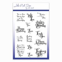 JND074 ~ Swirl Sentiments ~ clear stamps ~ John Next Door