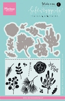 KJ1715 ~ Twigs and Twine ~ By Karin Joan ~ Marianne Design Stamp and  Die Set