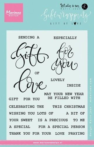 KJ1718 ~ Gift of Love ~ By Karin Joan ~ Marianne Design Stamp Set