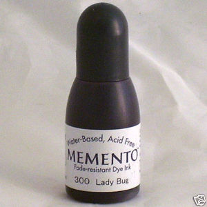 LADY BUG RE-INKER for Memento ink pad, 15ml bottle