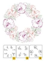 LCS001 ~ Flower Wreath 1 ~ Layered Nellie Snellen Clear Stamps 3 pc