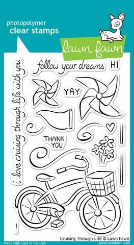 LF0349 ~ Cruising through life ~ CLEAR STAMPS BY LAWN FAWN