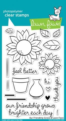 LF0556 ~ OUR FRIENDSHIP GROWS ~ CLEAR STAMPS BY LAWN FAWN