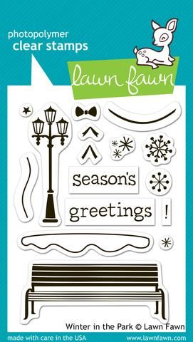 LF0570 M ~ WINTER IN THE PARK ~ CLEAR STAMPS BY LAWN FAWN