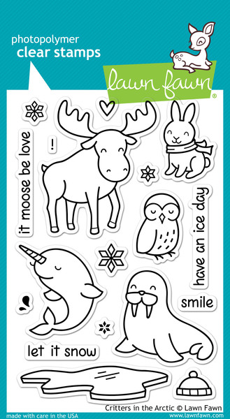 LF0708 ~ CRITTERS IN THE ARCTIC ~ CLEAR STAMPS BY LAWN FAWN