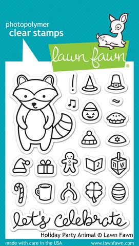 LF0934 M ~ HOLIDAY PARTY ANIMAL ~ CLEAR STAMPS BY LAWN FAWN