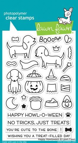 LF1206 ~ HAPPY HOWLOWEEN ~ CLEAR STAMPS BY LAWN FAWN
