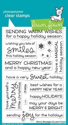 LF1230 ~ MERRY MESSAGES ~ CLEAR STAMPS BY LAWN FAWN