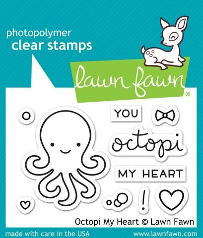LF1295 S ~ OCTOPI MY HEART ~ CLEAR STAMPS BY LAWN FAWN