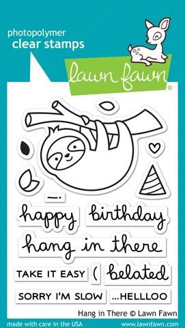 LF1311 M ~ Hang in There ~ CLEAR STAMPS BY LAWN FAWN