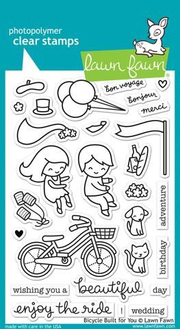 LF1323 ~ Bicycle built for you ~ CLEAR STAMPS BY LAWN FAWN