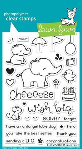 LF1328 ~ Elphie Selfie ~ CLEAR STAMPS BY LAWN FAWN
