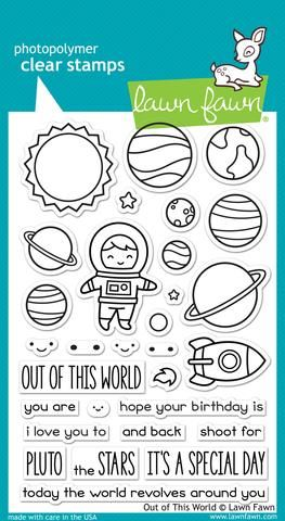 LF1330 ~ Out of this World ~ CLEAR STAMPS BY LAWN FAWN