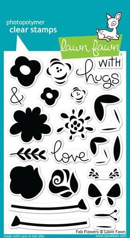 LF1332 ~ Fab Flowers ~ CLEAR STAMPS BY LAWN FAWN