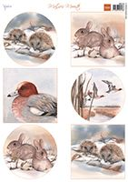 MB0163 ~ MATTIES WINTER ANIMALS HEDGEHOGS ~ A4 Decoupage 2 sheets ~ Marianne Designs