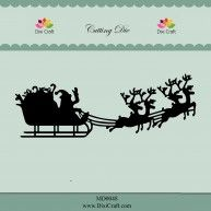 MD0048  CHRISTMAS SLEIGH ~ Dixi Craft Cutting Die