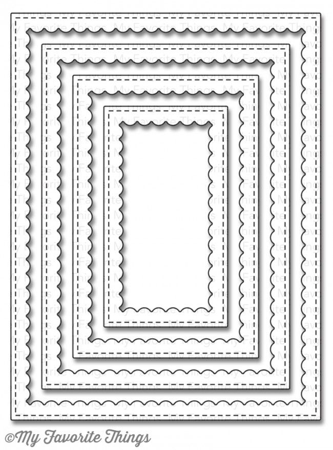 Mft 860 Stitched Rectangle Scalloped Frames Die Namics My