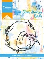 MM1610 ~ BIRDS & LEAVES ~  Marianne Designs Clear stamp
