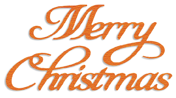 PCD003 ~ MERRY CHRISTMAS ~ CUTTING DIE ~ Presscut by Crafts Too
