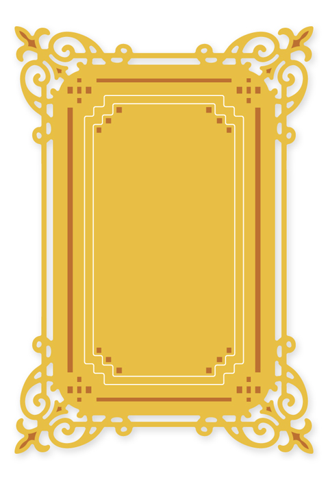 PCD034 ~ RECTANGLE FRAME 2~ CUTTING DIE ~ Presscut by Crafts Too