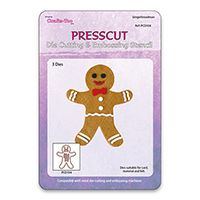 PCD104 ~ GINGERBREAD MAN SWING DIES ~ PRESSCUT Cut and Emboss