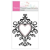 PCFD003 ~ Corazon ~ Presscut by Crafts Too Embossing Folder & Die Cut