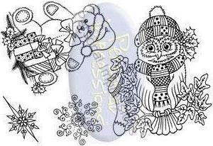 PICSA6241 ~ OWL & TEDDY ~ Clear Personal Impressions stamp set