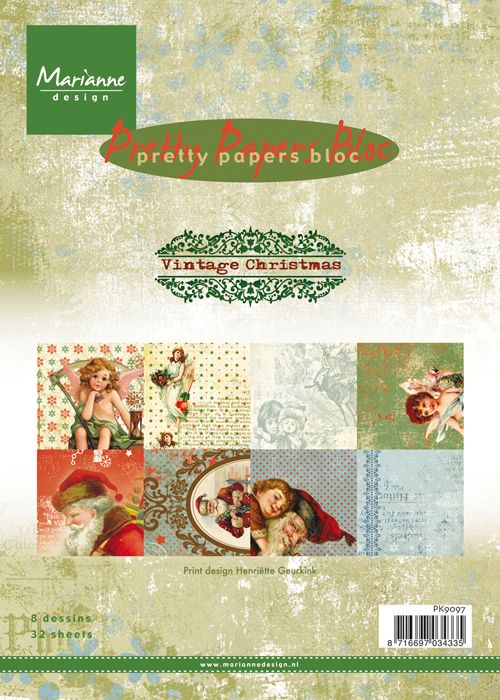 PK 9097 ~ VINTAGE CHRISTMAS ~ A5 Pretty Papers Bloc ~ Marianne Designs