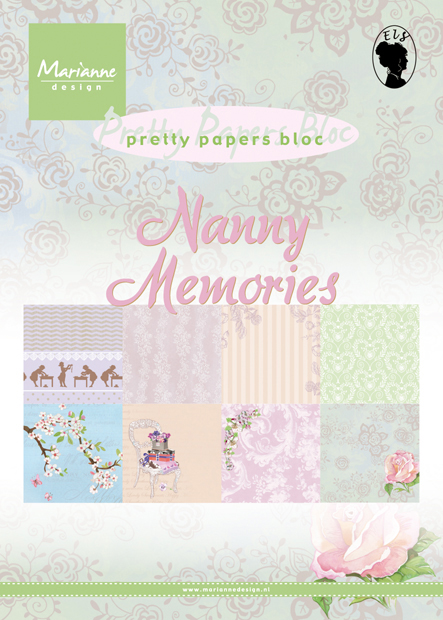 PK 9122 ~ NANNY'S MEMORIES ~ A5 Pretty Papers Bloc ~ Marianne Designs