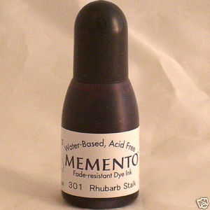 RHUBARB STALK Re-Inker for Memento ink pad, 15ml bottle