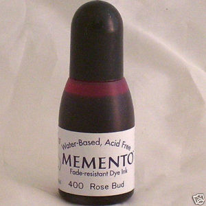 ROSE BUD Re-Inker for Memento ink pad, 15ml bottle